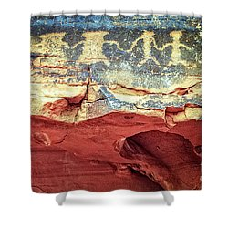 Red Rock Canyon Petroglyphs Shower Curtain