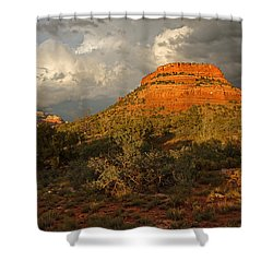 Red Rock Majesty Shower Curtain