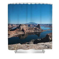 Red Rocks Drifting In Lake Powell Shower Curtain