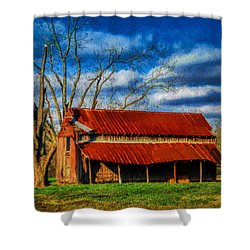 Red Roof Barn Shower Curtain