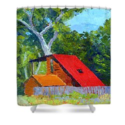 Red Roof Shower Curtain