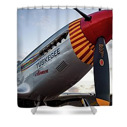 Red Tail At Dusk - 2017 Christopher Buff, Www.aviationbuff.com Shower Curtain
