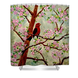 Red Tangler Shower Curtain