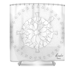 Red Tip Shell Shower Curtain