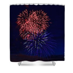 Shower Curtain featuring the photograph Red White And Blue by Robert Bales