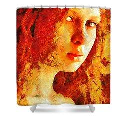 Redhead Shower Curtain by Gun Legler