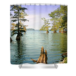 Shower Curtain featuring the photograph Reelfoot Lake by Bonnie Willis