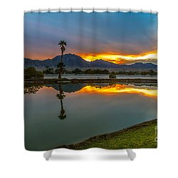 Shower Curtain featuring the photograph Reflected Sunrise by Robert Bales