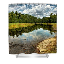 Reflection Of Nature Shower Curtain by Joe  Ng