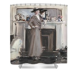 Shower Curtain featuring the painting Reflections by Celestial Images