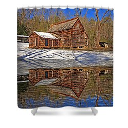 Shower Curtain featuring the photograph Reflections by Geraldine DeBoer