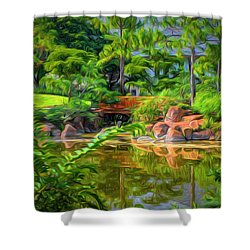 Reflections Shower Curtain by Louis Ferreira