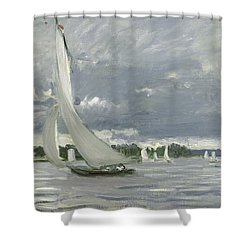 regatta at argenteuil shower curtain
