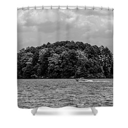 Relaxing On Lake Keowee In South Carolina Shower Curtain