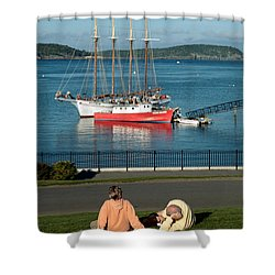 Relaxing On The Coast Shower Curtain