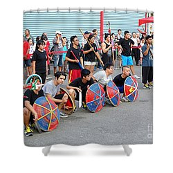 Shower Curtain featuring the photograph Religious Martial Arts Performance In Taiwan by Yali Shi