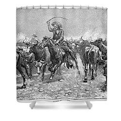 Remington: Cowboys, 1888 Shower Curtain by Granger