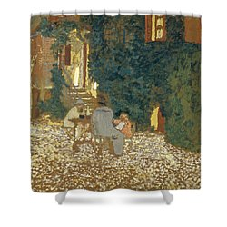 Repast In A Garden Shower Curtain
