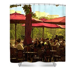 Restaurant In Georgetown Shower Curtain by Madeline Ellis