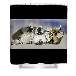 Shower Curtain featuring the painting Resting In The Lord by Karen Showell