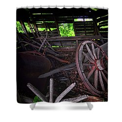 Retirement Barn Shower Curtain