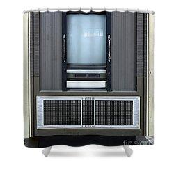 Retro Style Television Set Shower Curtain