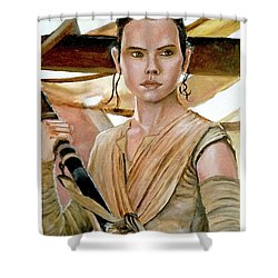 Rey Shower Curtain by Tom Carlton
