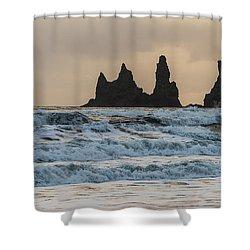 Reynisdrangar Shower Curtain