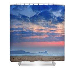 Rhosili 4 Shower Curtain