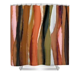 Shower Curtain featuring the painting Ribbons by Bonnie Bruno