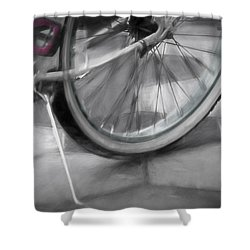 Shower Curtain featuring the photograph Ride With Me by Carolyn Marshall