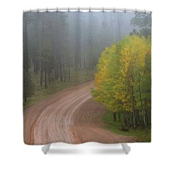Rim Road Shower Curtain
