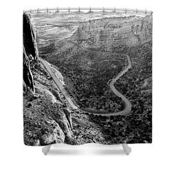 Rim Rock Drive Shower Curtain by Jay Stockhaus
