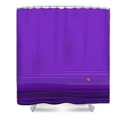 Ripple -twilight Purple Shower Curtain