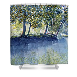 Ripples And Reflections Shower Curtain