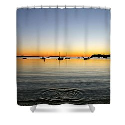 Ripples Shower Curtain by Justin Connor