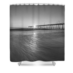 Rise And Shine At Nags Head Pier Shower Curtain