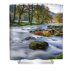 River Llugwy Shower Curtain by Ian Mitchell