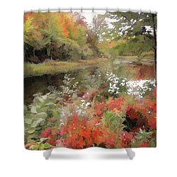 Shower Curtain featuring the photograph Riverside by Betsy Zimmerli