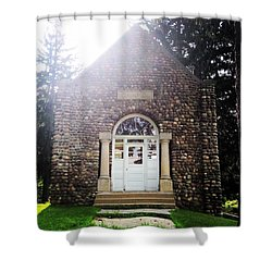 Riverside Cemetery Chapel Shower Curtain