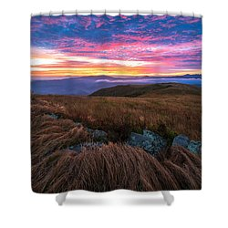Shower Curtain featuring the photograph Roan Mountain Sunrise by Serge Skiba