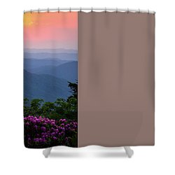 Roan Mountain Sunset Shower Curtain by Serge Skiba