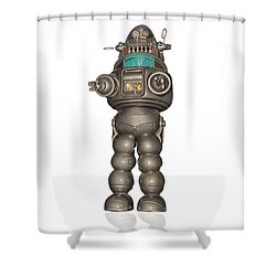 Robby The Robot Shower Curtain