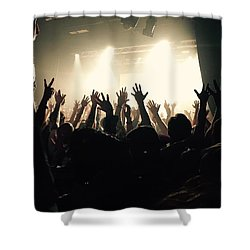 Rock And Roll Shower Curtain by Andre Brands