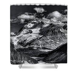 Rocky Mountain High Shower Curtain by Wayne Sherriff