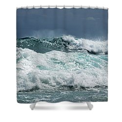 Rolling Breakers Shower Curtain
