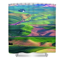 Green Hills Of The Palouse Shower Curtain by James Hammond