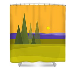 Shower Curtain featuring the digital art Rolling Hills by Val Arie