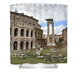 Rome - Theatre Of Marcellus Shower Curtain by Joana Kruse