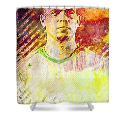 Ronaldo Shower Curtain by Svelby Art